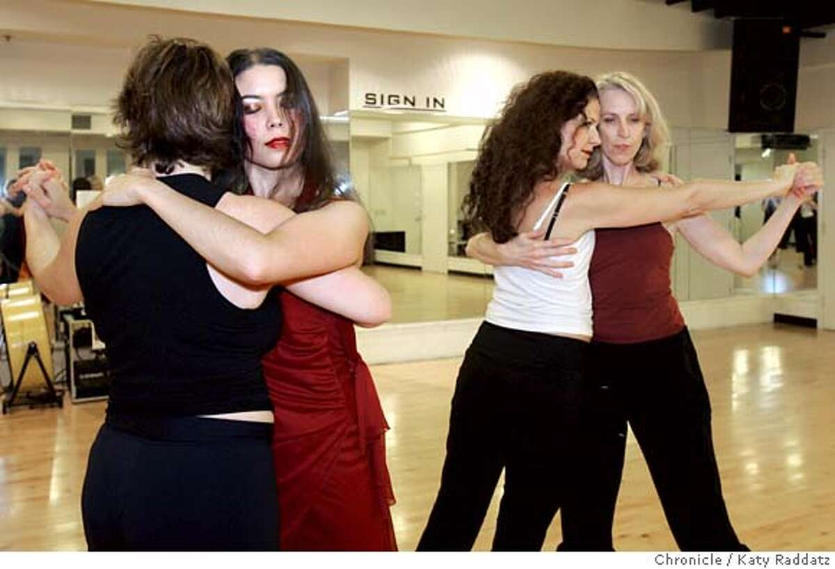 TANGO_045_RAD.jpg SHOWN: Tango. L to R: Debbie Goodwin, Chelsea Eng, Christy Cote, Pier Voulkos, all rehearsing. We photograph a rehearsal at the Metronome Dance Center where all four directors and creators work together on a dance piece called