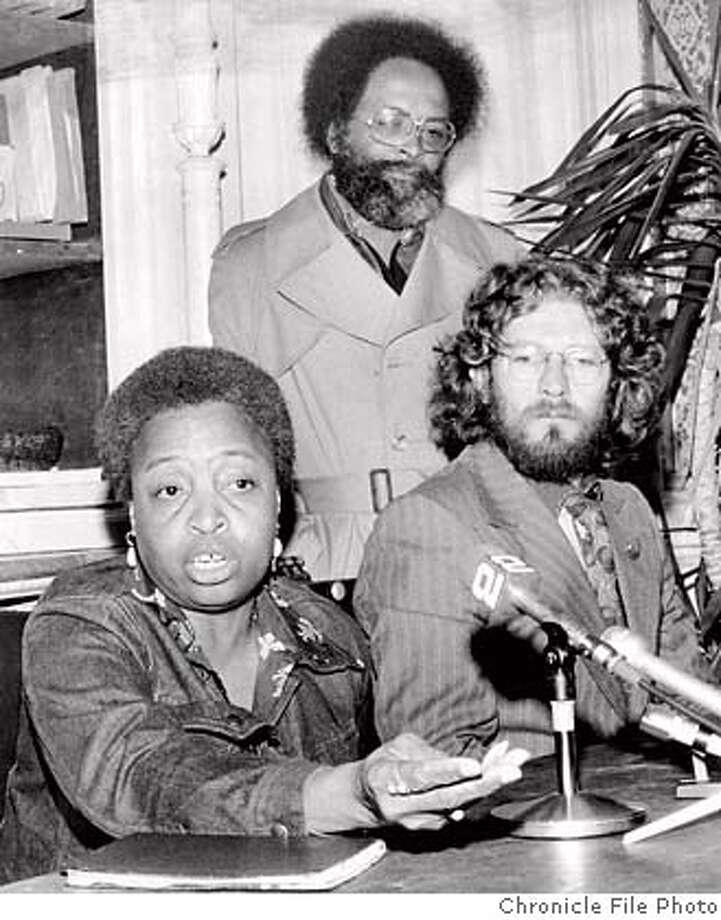 SCARLETT-GOLDEN09_PH1.jpg Yvonne Scarlett-Golden with Terence Hallinan and Rev. Cecil Williams in 1974. San Francisco Chronicle File Photo/ 1974 Photo: San Francisco Chronicle File Pho
