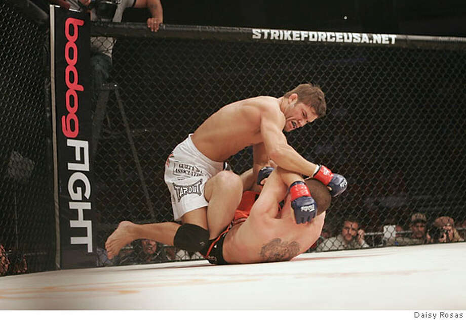 Action shot of Josh Thomson. Credit: Daisy Rosas  Ran on: 12-08-2006  Josh Thomson said he doesn't use his Stanford connection much, believing alumni &quo;aren't too fond of mixed martial arts.&quo; Photo: Daisy Rosas