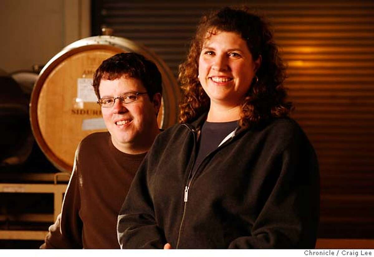 WINEMAKER08_092_cl.JPG Winemaker to watch: Adam Lee of Siduri Wines and Novy. Photo of Adam Lee and his wife Dianna. Event on 11/29/06 in Santa Rosa. MANDATORY CREDIT FOR PHOTOG AND SF CHRONICLE/ -MAGS OUT