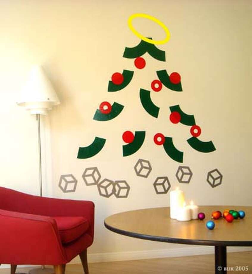 No space for a tree? Blik makes easily removable decals of a tree. Photo courtesy of Blik