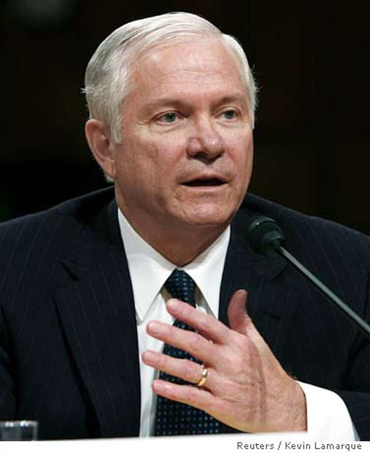 U.S. Defense Secretary nominee Robert Gates testifies before the U.S. Senate Armed Services Committee during his confirmation hearing on Capitol Hill in Washington December 5, 2006. REUTERS/Kevin Lamarque (UNITED STATES) Photo: KEVIN LAMARQUE