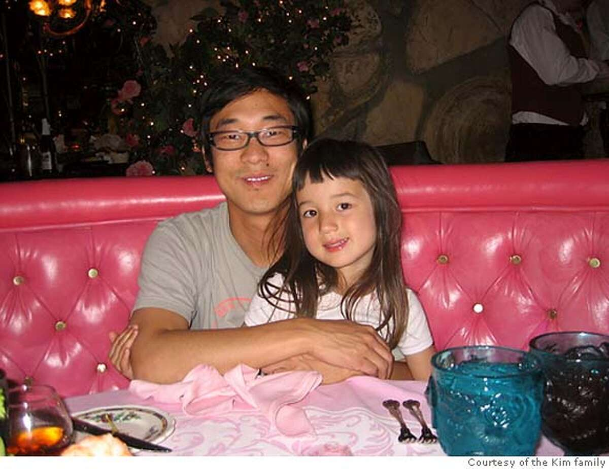 James Kim with his older daughter Penelope.