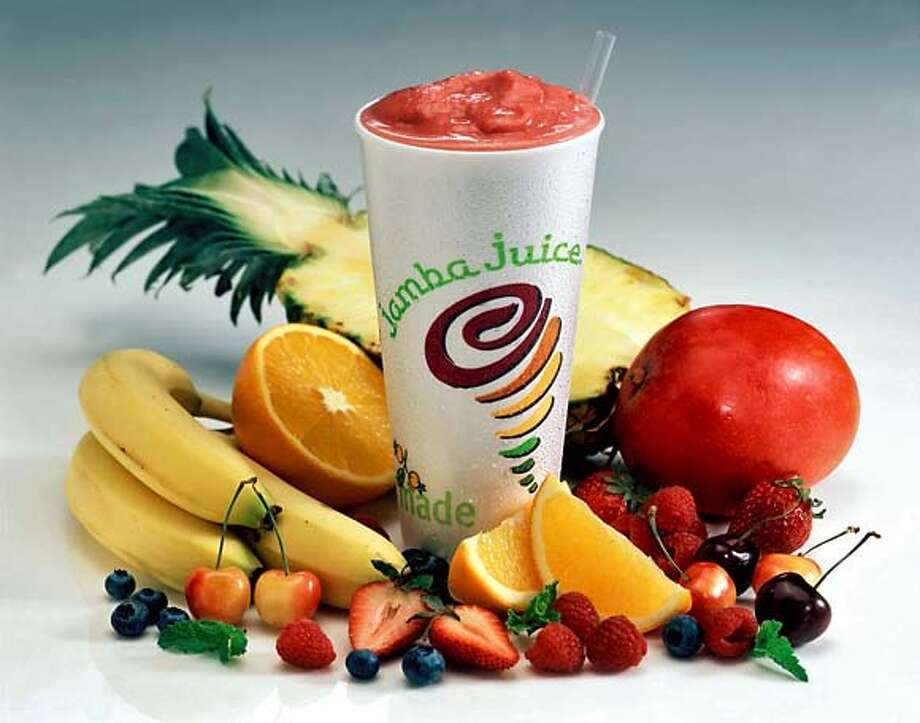 KRT WHAT'S NEXT STORY SLUGGED: NXT LUNCHLADIES KRT HANDOUT PHOTOGRAPH (March 29) Jamba Juice offers a wide assortment of smoothies. (jt) 2005 Photo: HANDOUT