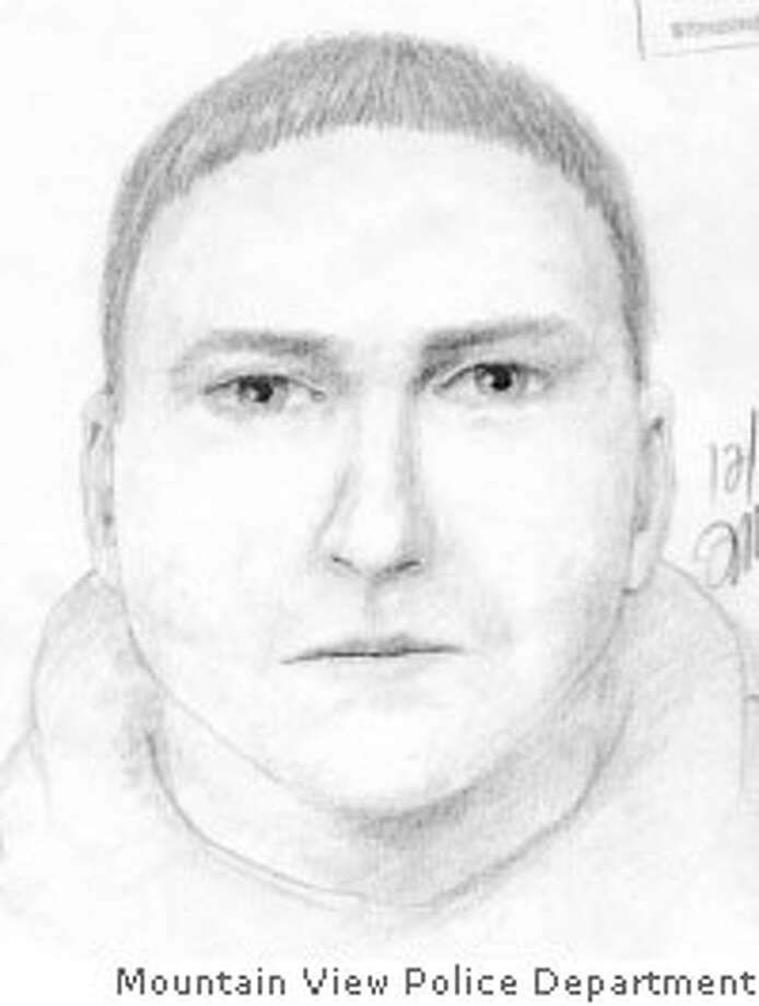 Mountain View police suspect this man assaulted a woman on Sunday. Mountain View Police Department sketch