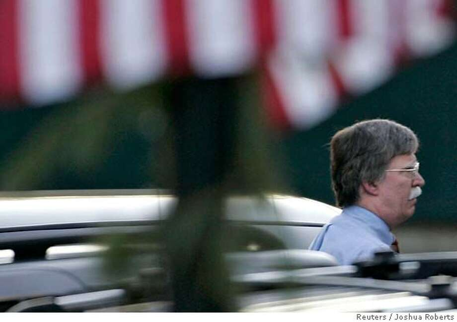 U.S. Permanent Representative to the United Nations John Bolton leaves the White House after his resignation was accepted by U.S. President George W. Bush in Washington December 4, 2006. REUTERS/Joshua Roberts (UNITED STATES) 0 Photo: JOSHUA ROBERTS