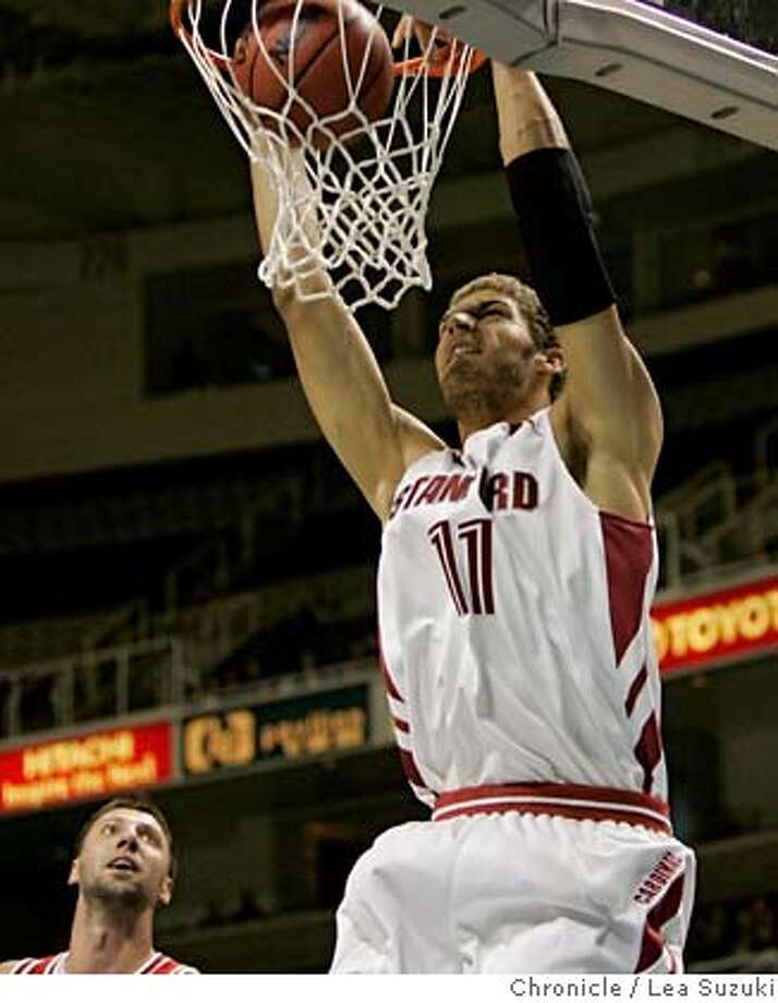 #11 Brook Lopez makes a basket in the first half.  Stanford vs. Texas Tech in the Pete Newell Challenge at the HP Arena in San Jose on Sunday, December 3, 2006. Photo by Lea Suzuki/The San Francisco Chronicle  Photo taken on 12/3/06, in San Jose, CA. **(themselves) cq. Photo: Lea Suzuki