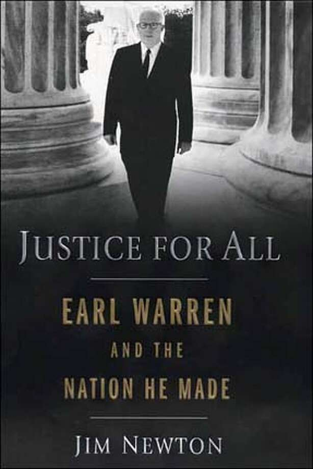 """Chief Justice Earl Warren enters the U.S. Supreme Court building, where he served from 1953 to 1969. Photo by George Tames / detail from the cover of """"Justice for All"""""""