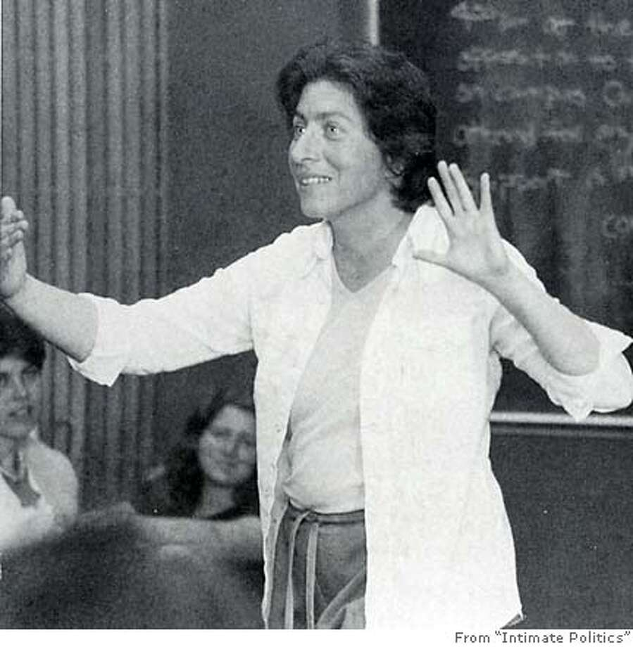 "Bettina Aptheker (sp?) teaching ""Intro to Feminism"" at UC Santa Cruz in 1981. From ""Intimate Politics"" MANDATORY CREDIT FOR PHOTOG AND SF CHRONICLE/ -MAGS OUT Photo: No Byline"