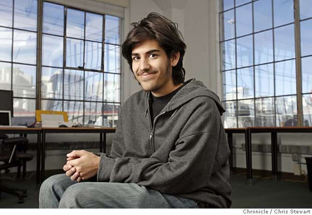 FILE - Aaron Swartz is the 19-year-old co-founder of reddit.com in San Francisco. Chris Stewart / The Chronicle