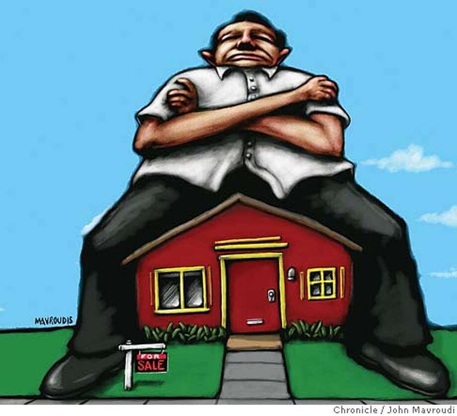 When Sellers Won't Budge. Chronicle illustration by John Mavroudi