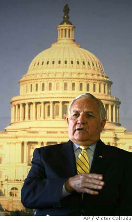 Rep. Silvestre Reyes, D-Texas, speaks about his appointment as chairman of the House Permanent Select Intelligence Committee, Friday, Dec. 1, 2006, in El Paso, Texas. (AP Photo/El Paso Times, Victor Calzada) MXJDJ OUT, TXELD OUT, EL PASO OUT Photo: VICTOR CALZADA