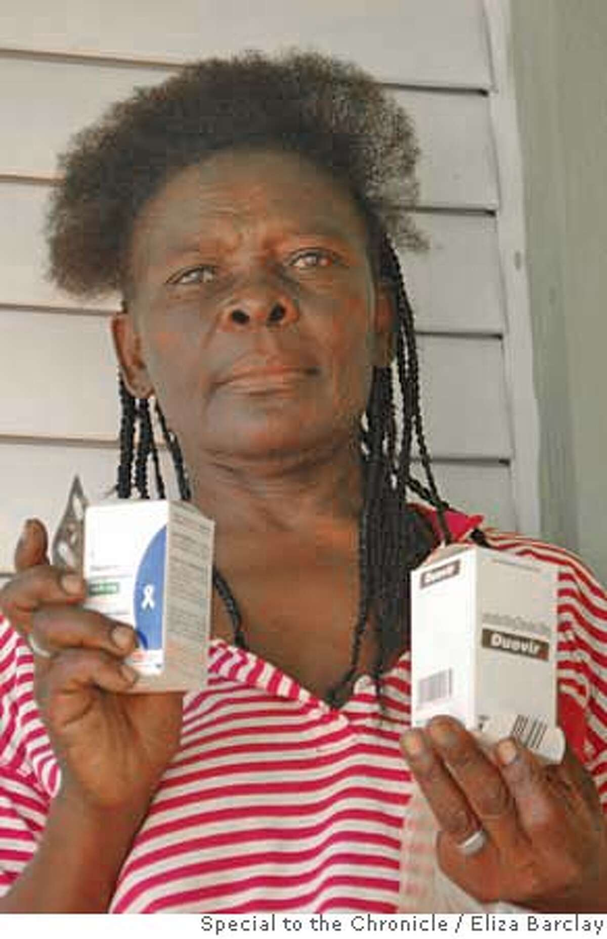 Amelia Cayo, 53, is part Haitian and an AIDS patient in the Cinco Casas bateye receiving free antiretroviral therapy from the medical center here. She began treatment earlier this year and was diagnosed with HIV nine years ago. Photo by Eliza Barclay/Special to The Chronicle