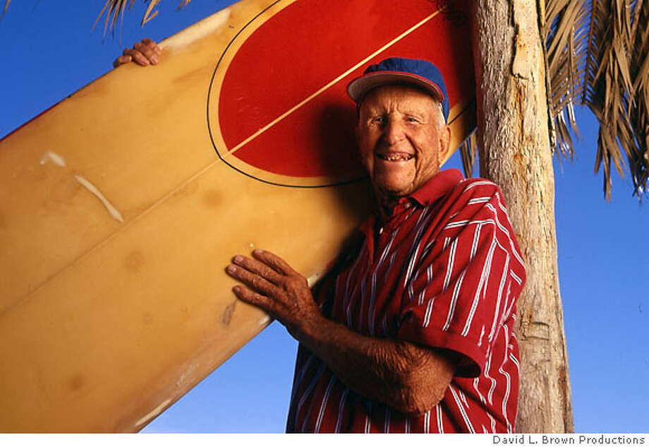 """Photo of legendary surfer, Woody Brown. From the """"Of Wind and Waves: The Life of Woody Brown."""" Credit: David L. Brown Productions Photo: David L. Brown Productions"""