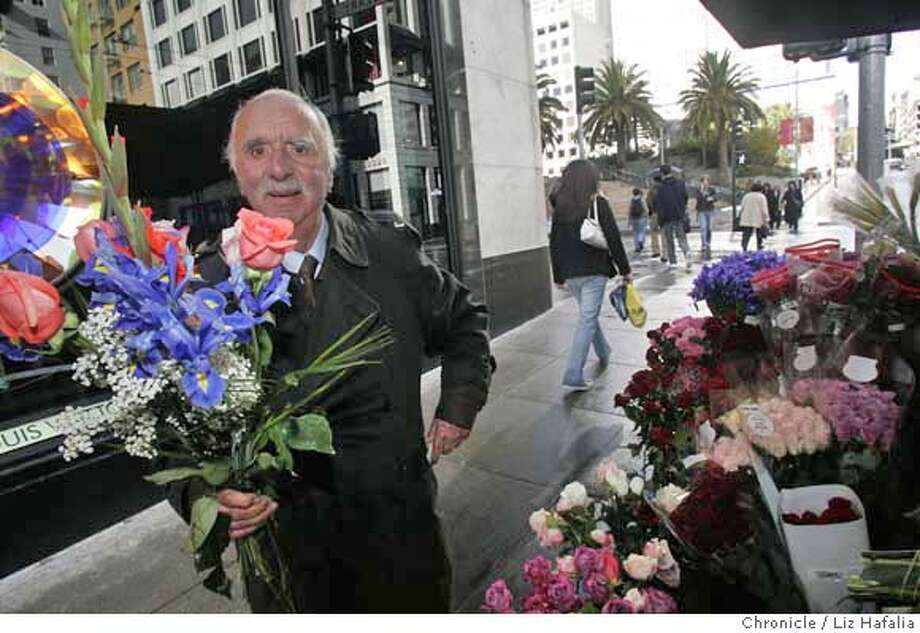 "FLOWERSTAND04_LH_042.JPG Al Nalbandian has run the Union Square flower stand at Geary and Stockton for decades. He's also had small roles in many movies and television shows, including Copola's ""The Conversation"" and TV's ""Streets of San Francisco.""  Photographed by Liz Hafalia MANDATORY CREDIT FOR PHOTOGRAPHER AND SAN FRANCISCO CHRONICLE/ -MAGS OUT Photo: Liz Hafalia"