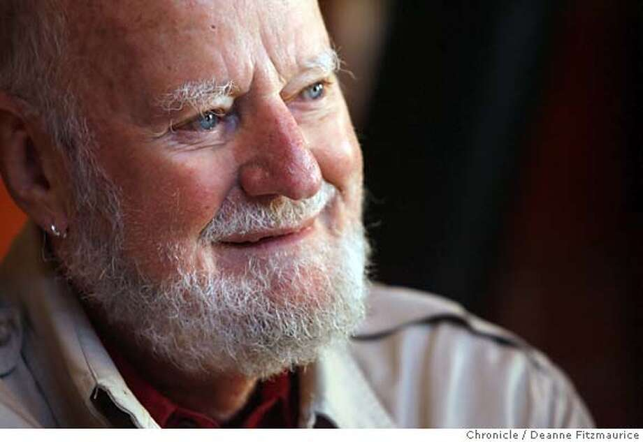 subchaser_0035_df.jpg  Poet and publisher Lawrence Ferlinghetti is in one of his favorite places, Caffe Trieste in North Beach. Event in San Francisco on 11/9/06. (Deanne Fitzmaurice/ The Chronicle) Mandatory credit for photographer and San Francisco Chronicle. /Magazines out. Photo: Deanne Fitzmaurice