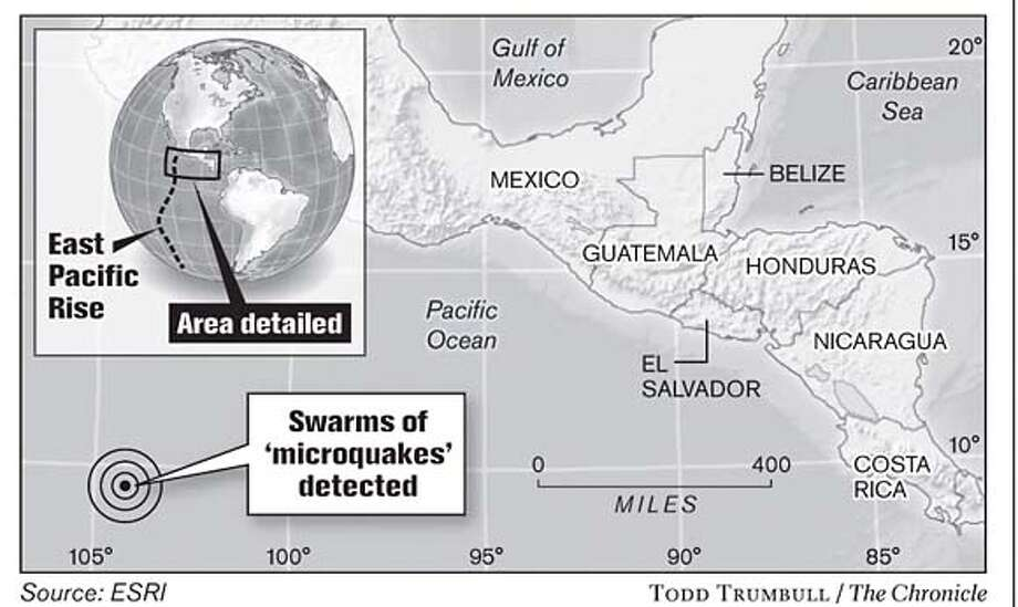 Swarms of 'Microquakes' Detected. Chronicle graphic by Todd Trumbull