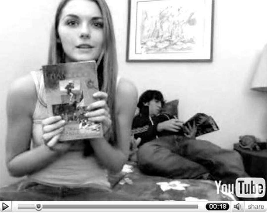 "This YouTube frame grab shows the Lonelygirl15 video, which drew considerable speculation over the Internet before ""The Creators"" acknowledged that she was really a 19-year-old film student."