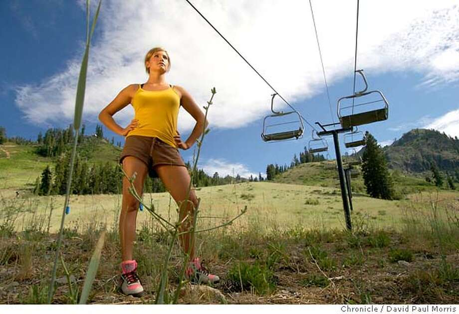 SQUAW VALLEY, CA - JULY 21: 2006 Olympic Gold Medal winner in the Womans Giant Slalom, Julia Mancuso, 22 stands on the ski slope that was named after her on July 21, 2006 in Squaw Valley California. (Photo by David Paul Morris/ for the Chronicle) Photo: David Paul Morris