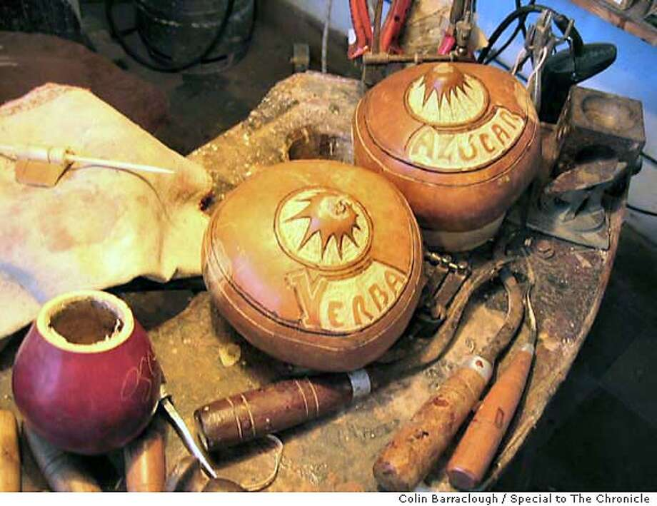 Tools of the trade: A mate gourd maker's workshop. Photo by Colin Barraclough, special to the Chronicle