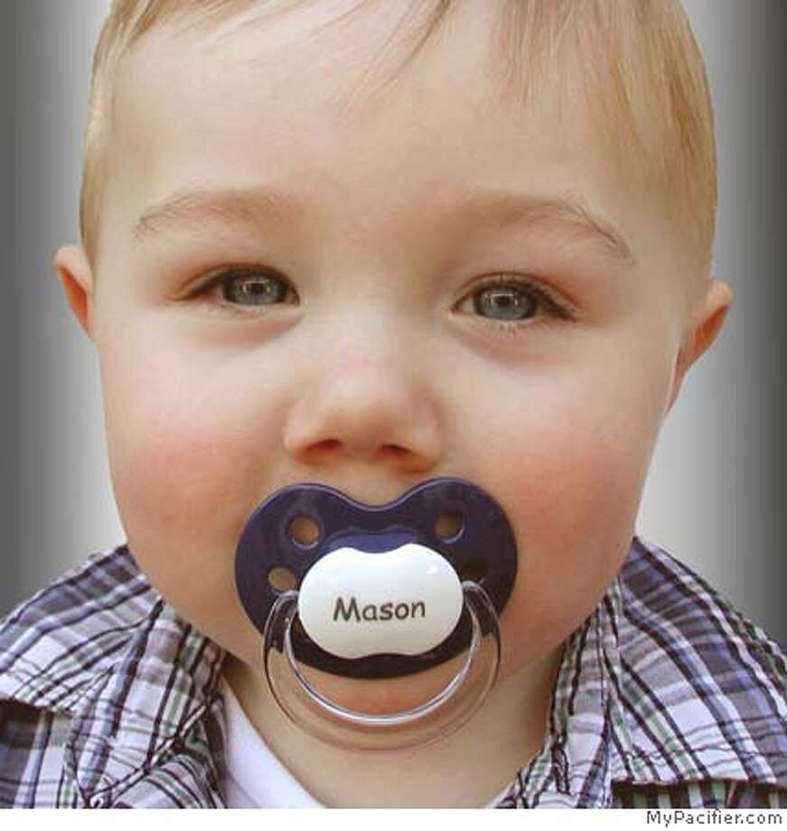 Mason Picture caption: MyPacifier and Mason Photo: MyPacifier.com