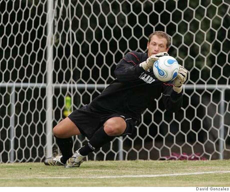 Photo of Santa Clara goalkeeper Joseph Buttitta. Credit: David Gonzales Photo: David Gonzales