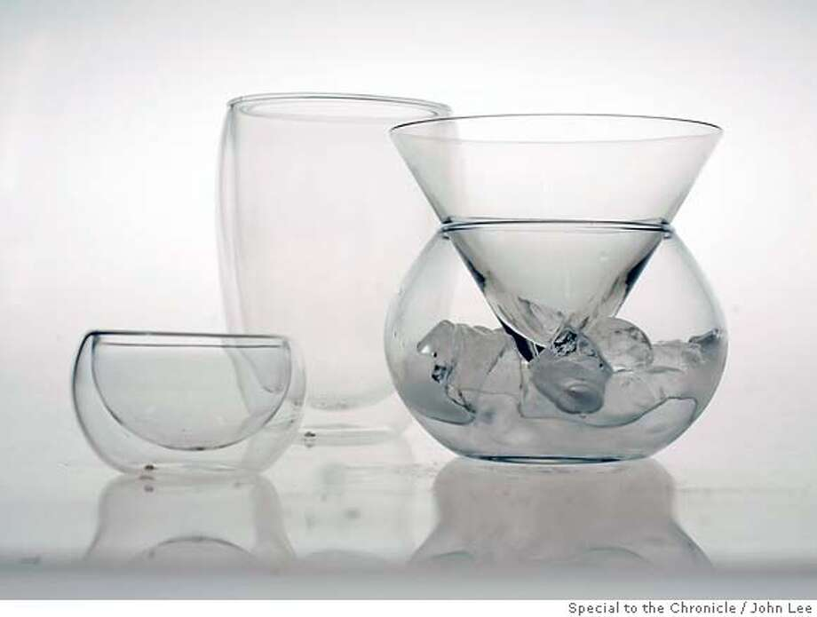 GIFT24_STEMWARE03JOHNLEE.JPG  Wine glasses, beer glass, sake cup, martini glass with ice cooler.  By JOHN LEE/SPECIAL TO THE CHRONICLE Photo: JOHN LEE