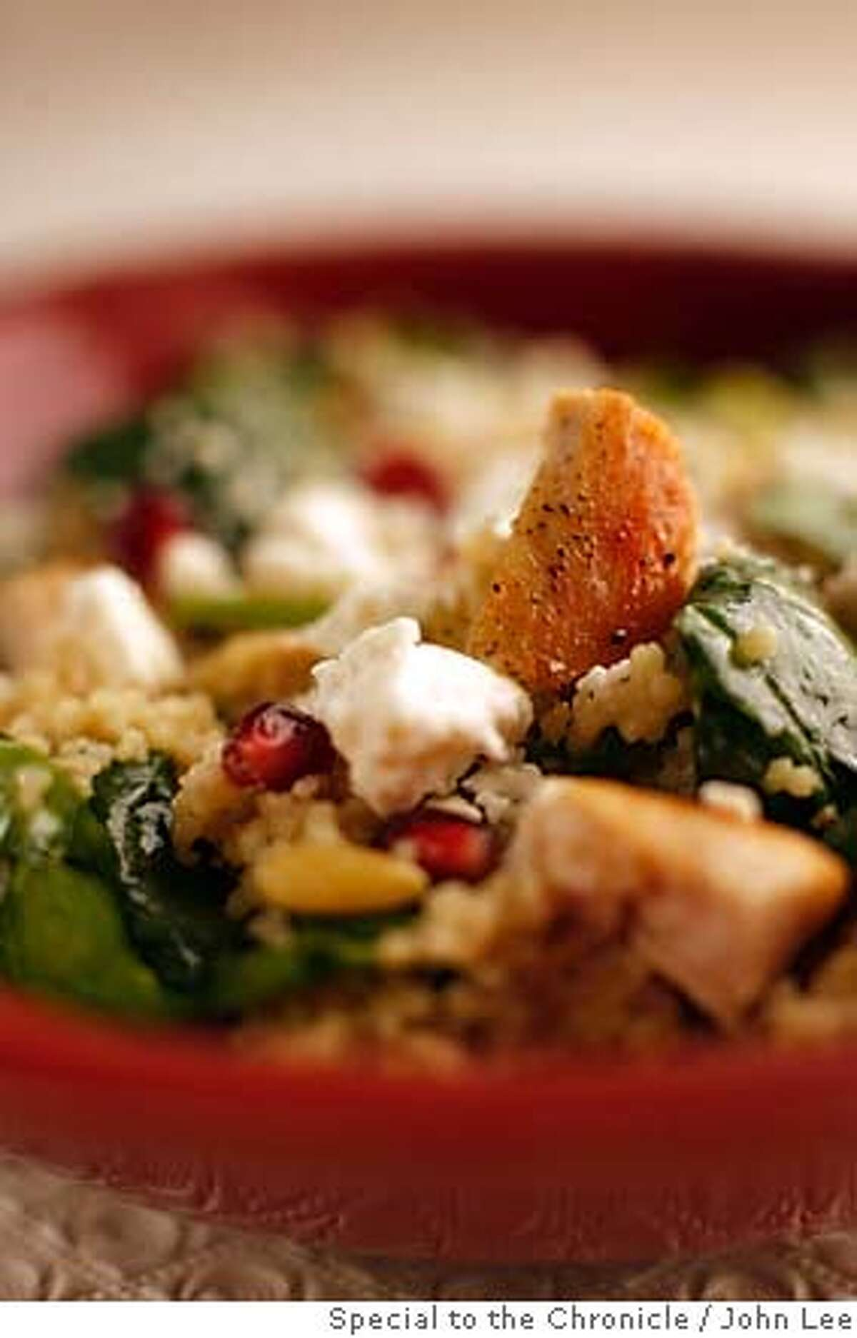WORKING22_02JOHNLEE.JPG Working Recipe: Turkey Couscous Salad with Pomegranates. By JOHN LEE/SPECIAL TO THE CHRONICLE