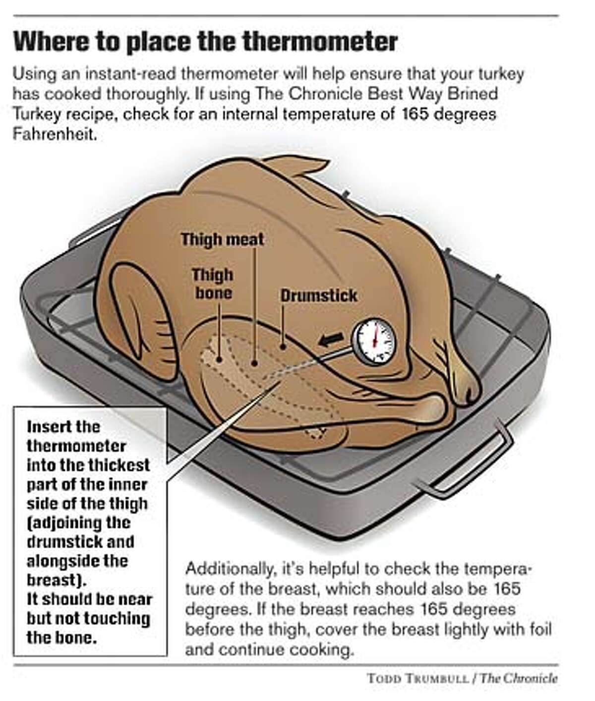 Where to Place the Thermometer. Chronicle graphic by Todd Trumbull