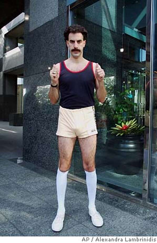 """""""Borat"""" can go either way: Men are far more likely to go with a scary costume than a sexy one. Photo: ALEXANDRA LAMBRINIDIS"""