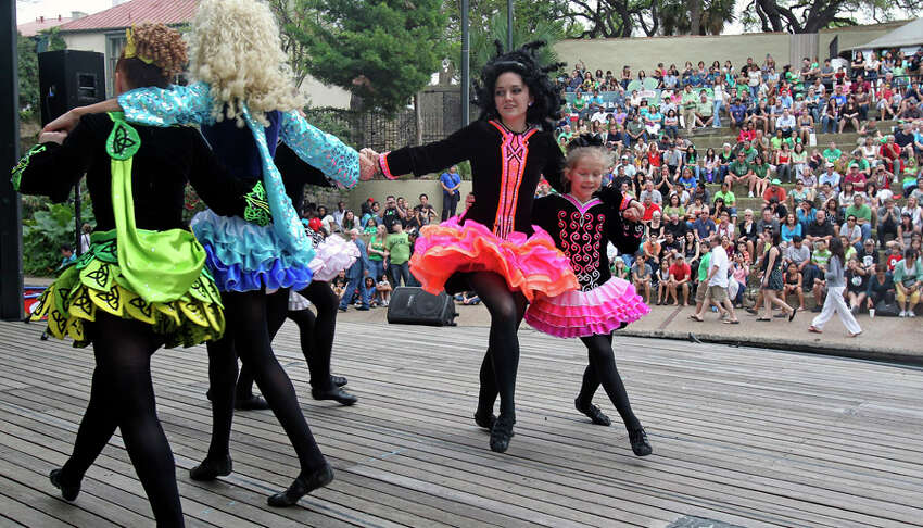 The Inishfree Irish Dancers perform during the St. Patrick's Day festivities at Arneson River Theatre on March 16, 2012.
