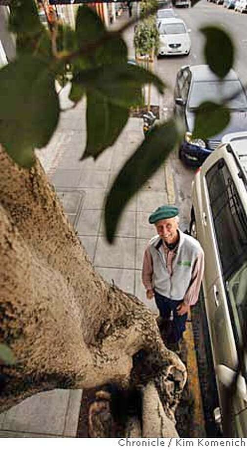 URBANFOREST_032_KK.JPG  Charlie Starbuck (pictured) is a 25-year volunteer with San Francisco's Friends of the Urban Forest. He stands next to the first of 40,000 trees planted in San Francisco by the organization, a glossy privet which was planted in 1981 and grows on 24th near Sanchez.  Photo by Kim Komenich/The Chronicle  **Charlie Starbuck  Ran on: 11-19-2006  Charlie Starbuck stands by a glossy privet on 24th Street near Sanchez Street in Noe Valley, the first tree planted by the Friends of the Urban Forest. Above left, Starbuck tends to a new Bayview planting. Photo: Kim Komenich