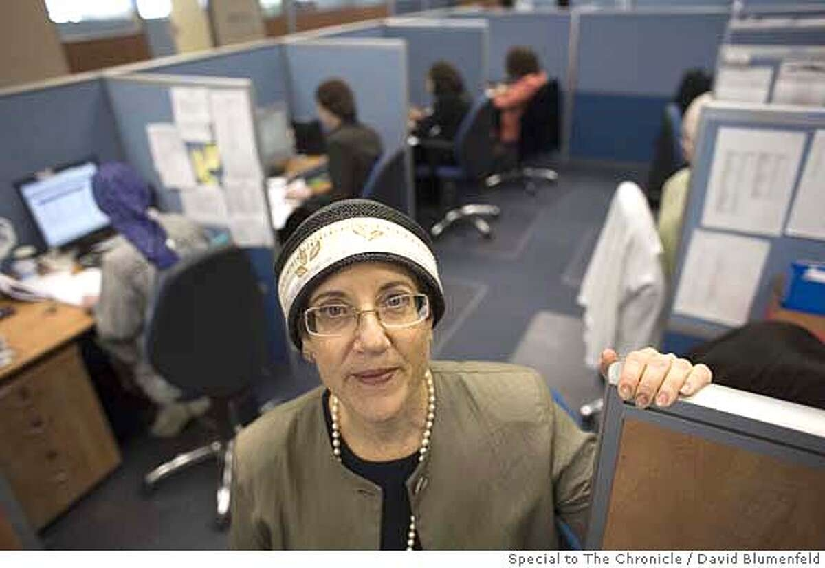 Modi�in Illit, Israel: 10-17-2006: Deena Porat, originally from New York, Director of Human Resources at Citybook Services, a US based outsourcing firm which employs Ultra Orthodox women in their Israeli office. David Blumenfeld/Special to The Chronicle NO MAGS, , NO TV