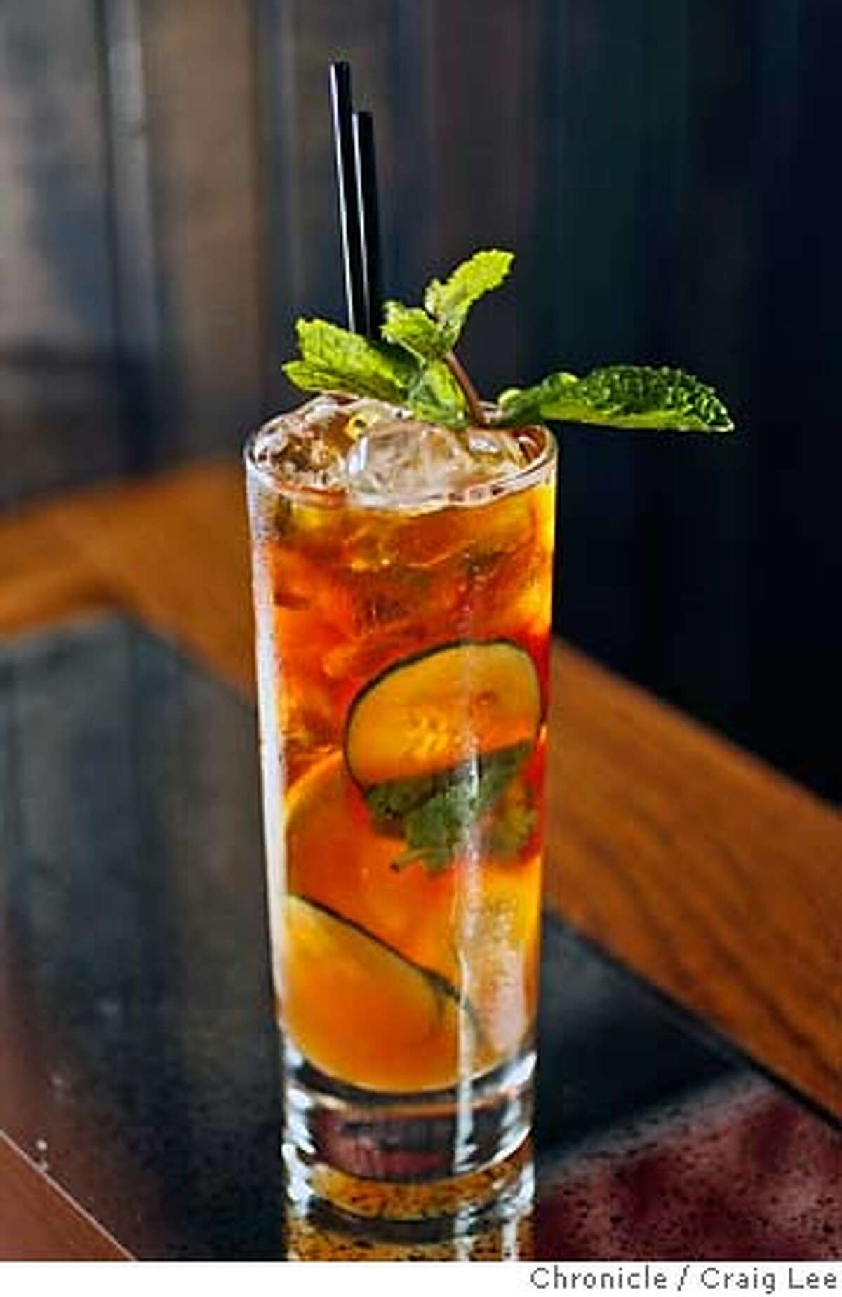 SIPPINGNEWS15_093_cl.JPG Bourbon and Branch, a reservation-only bar in the Tenderlion that is making cutting-edge drinks. Photo of the Primm's Cup cocktail. Craig Lee / The Chronicle MANDATORY CREDIT FOR PHOTOG AND SF CHRONICLE/ -MAGS OUT