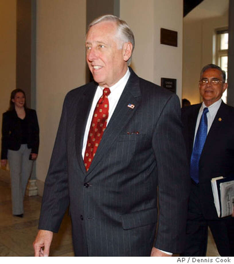 Rep. Steny Hoyer, D-Md., arrives for a meeting on Capitol Hill in Washington, Thursday, Nov. 16, 2006. (AP Photo/Dennis Cook) Photo: DENNIS COOK