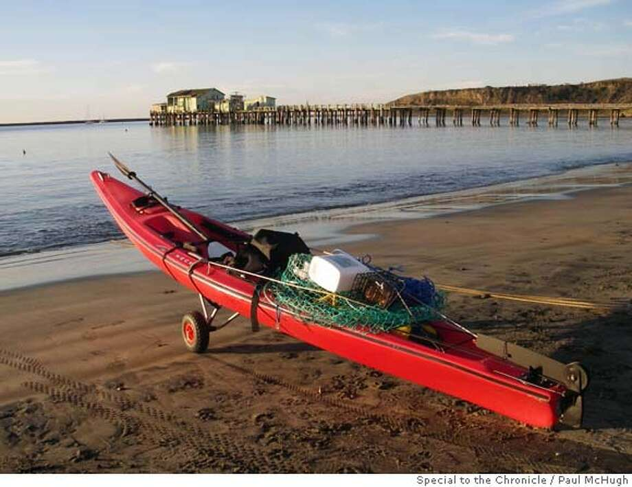 Crab fishing in kayak calls for judgment tough fingers for Half moon bay fishing report