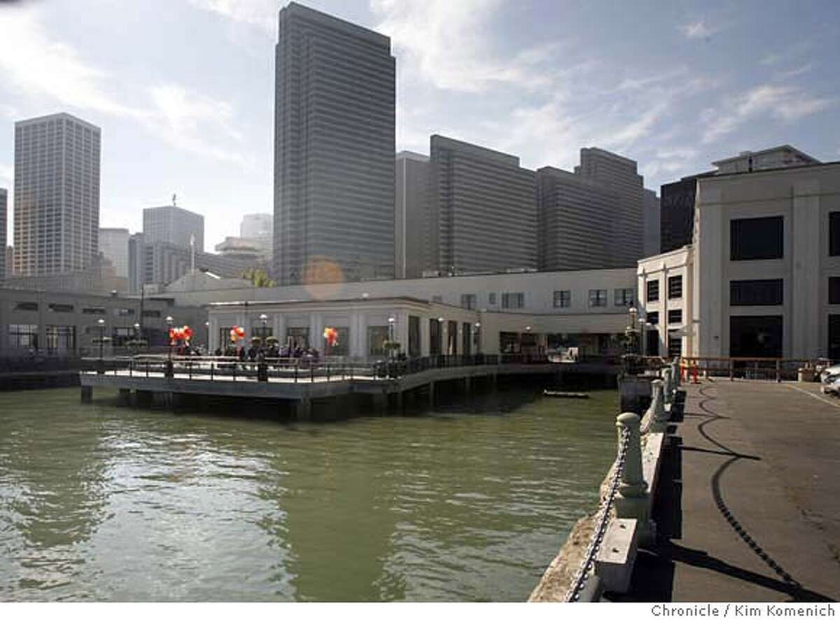 PIERS_042_KK.JPG Piers 1 1/2 and three have been transformed into high-end restaurant and office space. We get a look at the piers after officials cut the ribbon on Wednesday. This is the view of Pier 1 1/2, from Pier 3. Photo by Kim Komenich/The Chronicle ** �2006, San Francisco Chronicle/Kim Komenich MANDATORY CREDIT FOR PHOTOG AND SAN FRANCISCO CHRONICLE/ -MAGS OUT