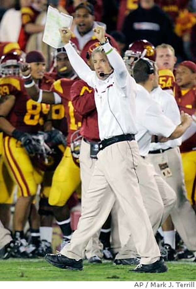 USC coach Pete Carroll has helped turn the L.A. Coliseum into quite a home-field advantage for the Trojans. Associated Press photo by Mark J. Terrill