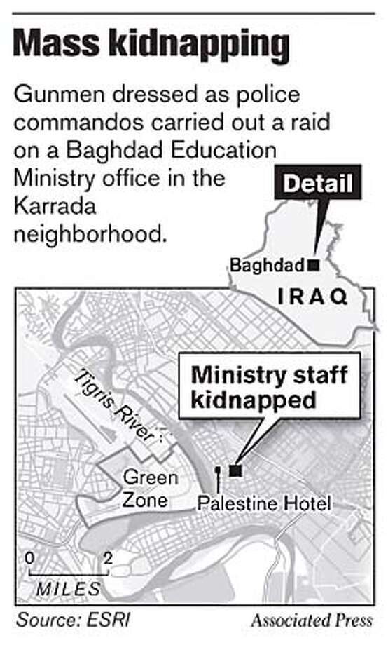 Mass Kidnapping. Associated Press Graphic