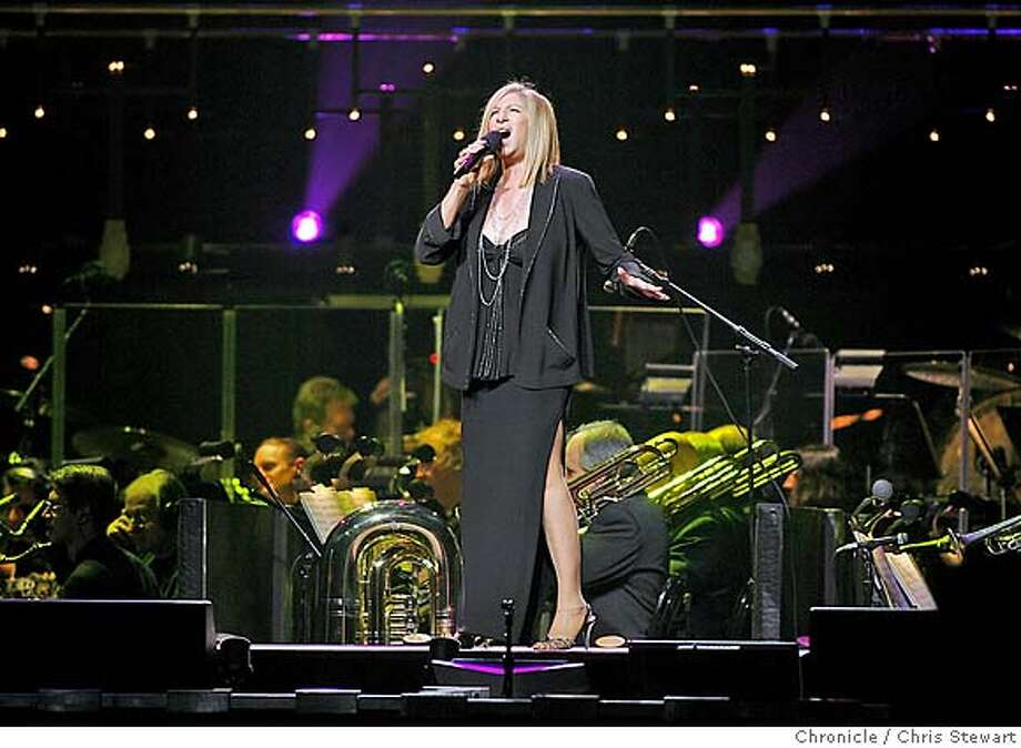 """STREISAND_0190_cs.jpg  Barbra Streisand sings """"Down With Love"""" as she appears in concert November 13, 2006 at the HP Pavilion in San Jose.  Chris Stewart / The Chronicle MANDATORY CREDIT FOR PHOTOG AND SF CHRONICLE/ -MAGS OUT Photo: Chris Stewart"""