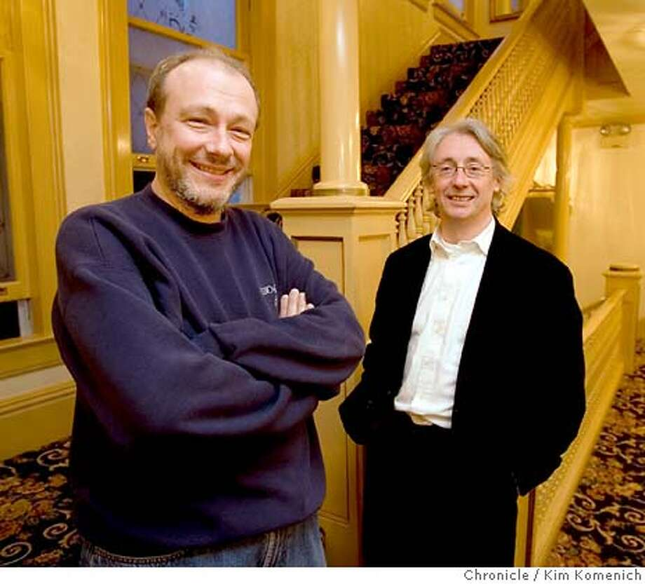 jpg  L to R, Marc-Andre Hamelin, Kevin Volans  SF Symphony is about to give the world premiere of Kevin Volans' Piano Concerto, which they commissioned from him.  Soloist is pianist Marc-Andre Hamelin, who reportedly had big input into the piece's construction.  Photo by Kim Komenich/The Chronicle  **Themselves �2006, San Francisco Chronicle/Kim Komenich  MANDATORY CREDIT FOR PHOTOG AND SAN FRANCISCO CHRONICLE/ -MAGS OUT Photo: Kim Komenich