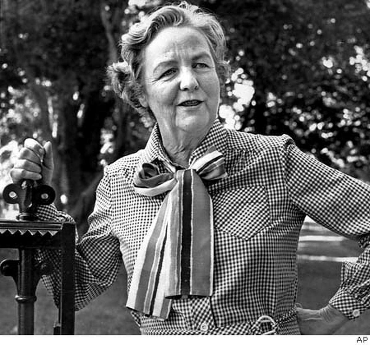 Jessica Mitford believed she had her own things to do in life and expected her children to find their own things to do. Associated Press Photo, 1979