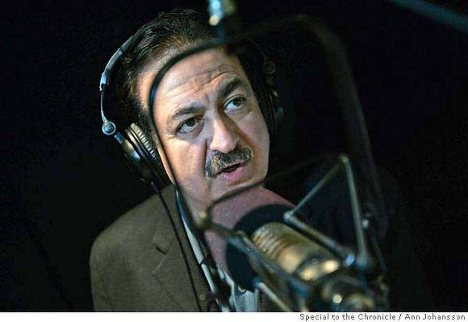 Coast to Coast AM radio talk show host George Noory pose for photographs in the studio where the show is taped, at Premiere Radio Networks in Los Angeles, Monday, September 18, 2006.  Ran on: 11-12-2006  George Noory hosts &quo;Coast to Coast AM,&quo; a late-night radio show that attracts fringe conspiracy theorists and mainstream listeners alike.  Ran on: 11-12-2006  George Noory hosts &quo;Coast to Coast AM,&quo; a late-night radio show that attracts fringe conspiracy theorists and mainstream listeners alike. Photo: Ann Johansson