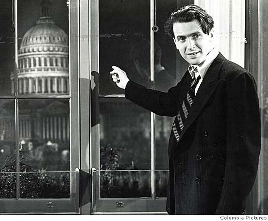 "WAVERS15_PH3.jpg James Stewart stars in ""Mr. Smith Goes To Washington."" 1939 handout/ handout  Ran on: 11-12-2006  James Stewart in &quo;Mr. Smith Goes to Washington&quo;: golden. Photo: Columbia Pictures"
