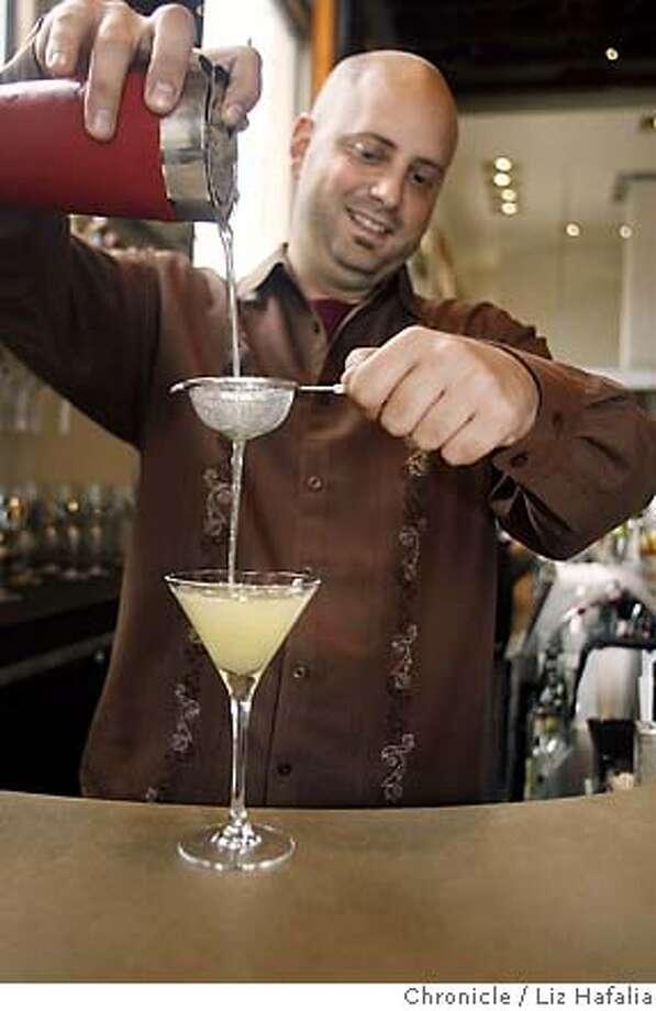 SPIRITS10_046.jpg For the Cocktailian column, NOPA bartender Neyah White making a Washhouse cocktail.  photographed by Liz Hafalia Photo: Liz Hafalia