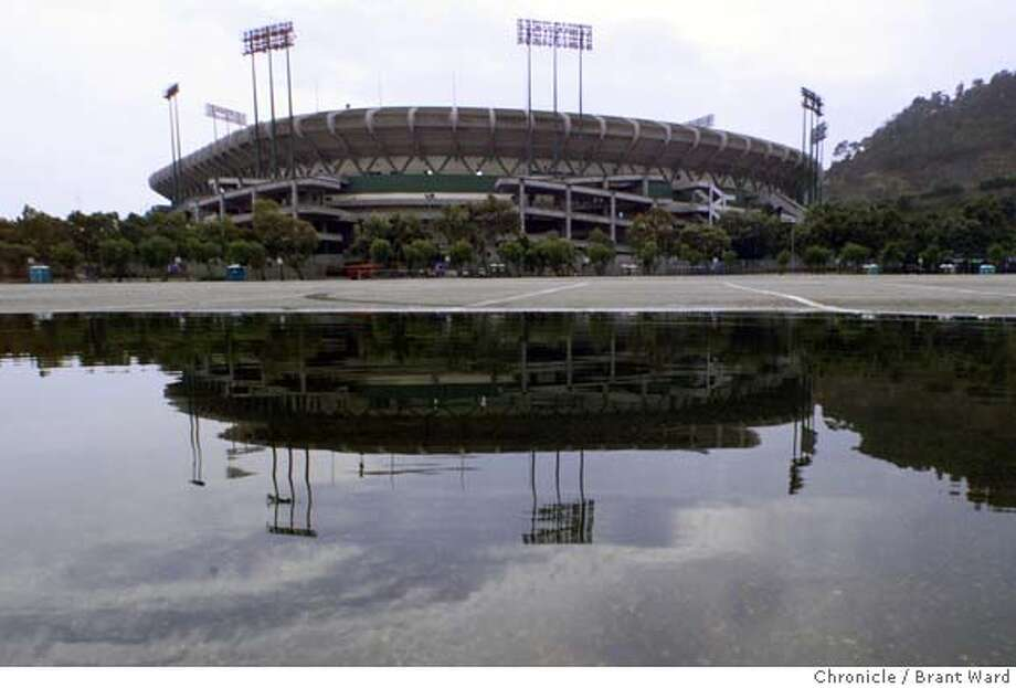 Monster Park will be a ghost of the 49ers' past, if the team's Santa Clara plans aren't all wet. Chronicle file photo, 1999, by Brant Ward