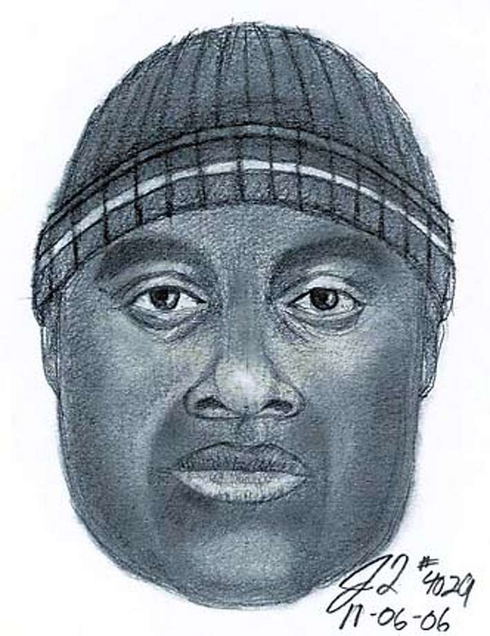 A police artist's sketch of one of the suspects in more than a dozen robberies in the last year.
