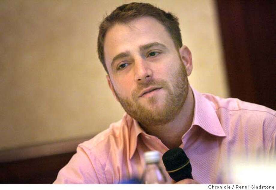 Speaking at The Web 2.0 conference at the Palace Hotel is Stewart Butterfield with Flickr.  Event on 11/7/06 in San Francisco.  Penni Gladstone / The Chronicle MANDATORY CREDIT FOR PHOTOG AND SF CHRONICLE/ -MAGS OUT Photo: Penni Gladstone