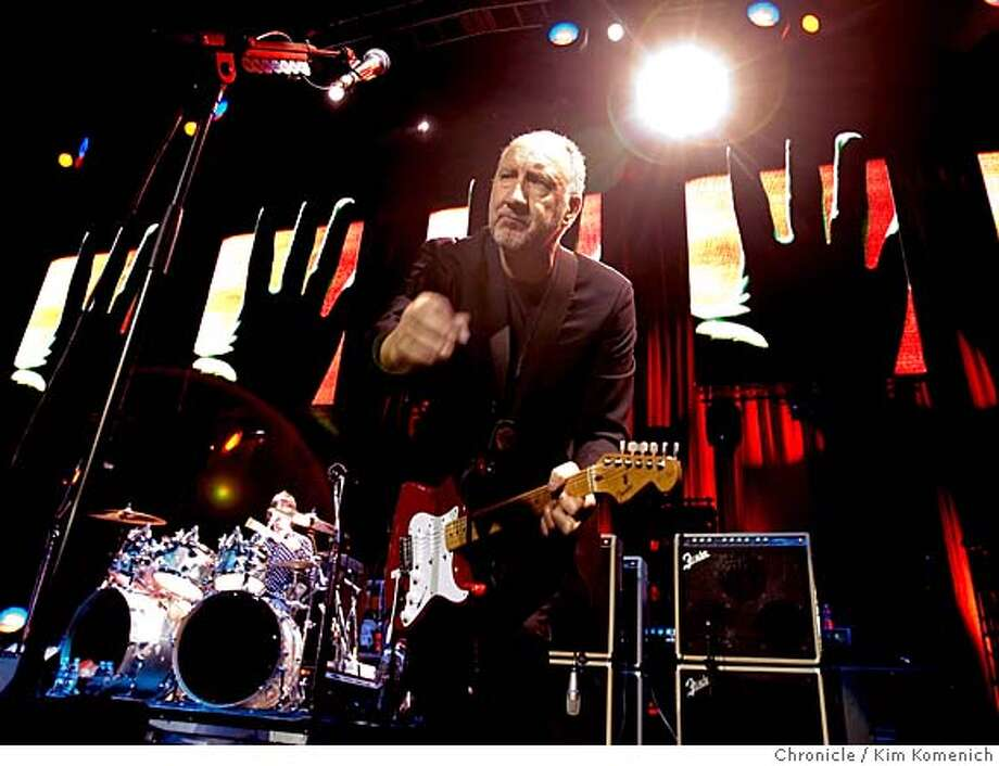 The Who Performs at HP Pavilion in San Jose. Pete Townshend on lead guitar  Photo by Kim Komenich/The Chronicle Photo: Kim Komenich