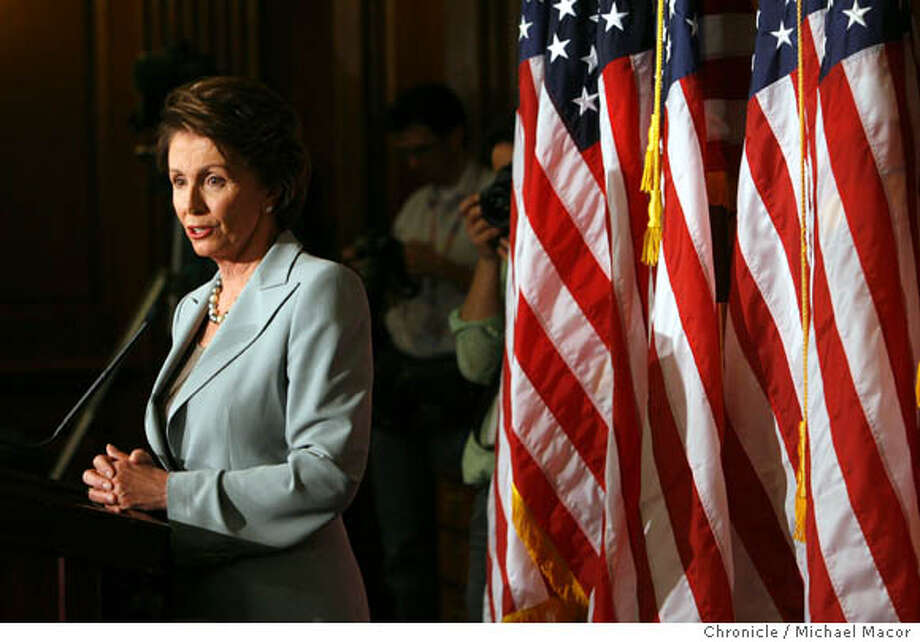 Democratic Leader, Nancy Pelosi holds her first press conference the day after the Democrats win the majority in the House of Representatives. Event in, Washington, DC, on 11/8/06. Photo by: Michael Macor/ San Francisco Chronicle Photo: Michael Macor